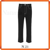 N.21 Cropped Jeans With Logo