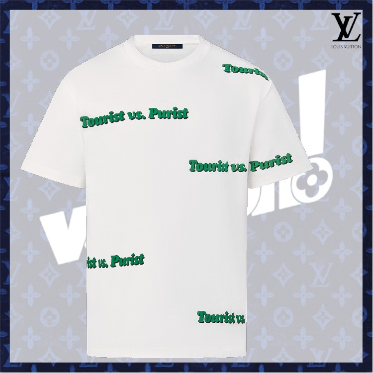 21FW 新作【ルイヴィトン】コットンTシャツ con stampa (Louis Vuitton/Tシャツ・カットソー) 1A971T