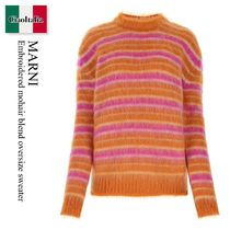 Marni Embroidered mohair blend oversize sweater