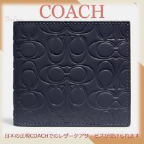Coach☆32037 Double Billfold Wallet In Signature Leather