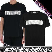 Sale★GIVENCHY★Patent Tape シルバー ロゴ Tシャツ 黒 関税込