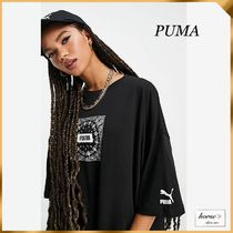 【PUMA】ペイズリー柄 ロゴ入り Tシャツワンピ *送料・関税込み