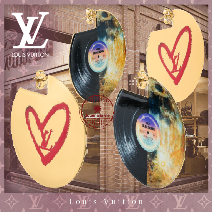 21FW直営LV★LIMITED EDITION - FALL IN LOVE VINYLE EARRINGS★ (Louis Vuitton/ピアス) M00468