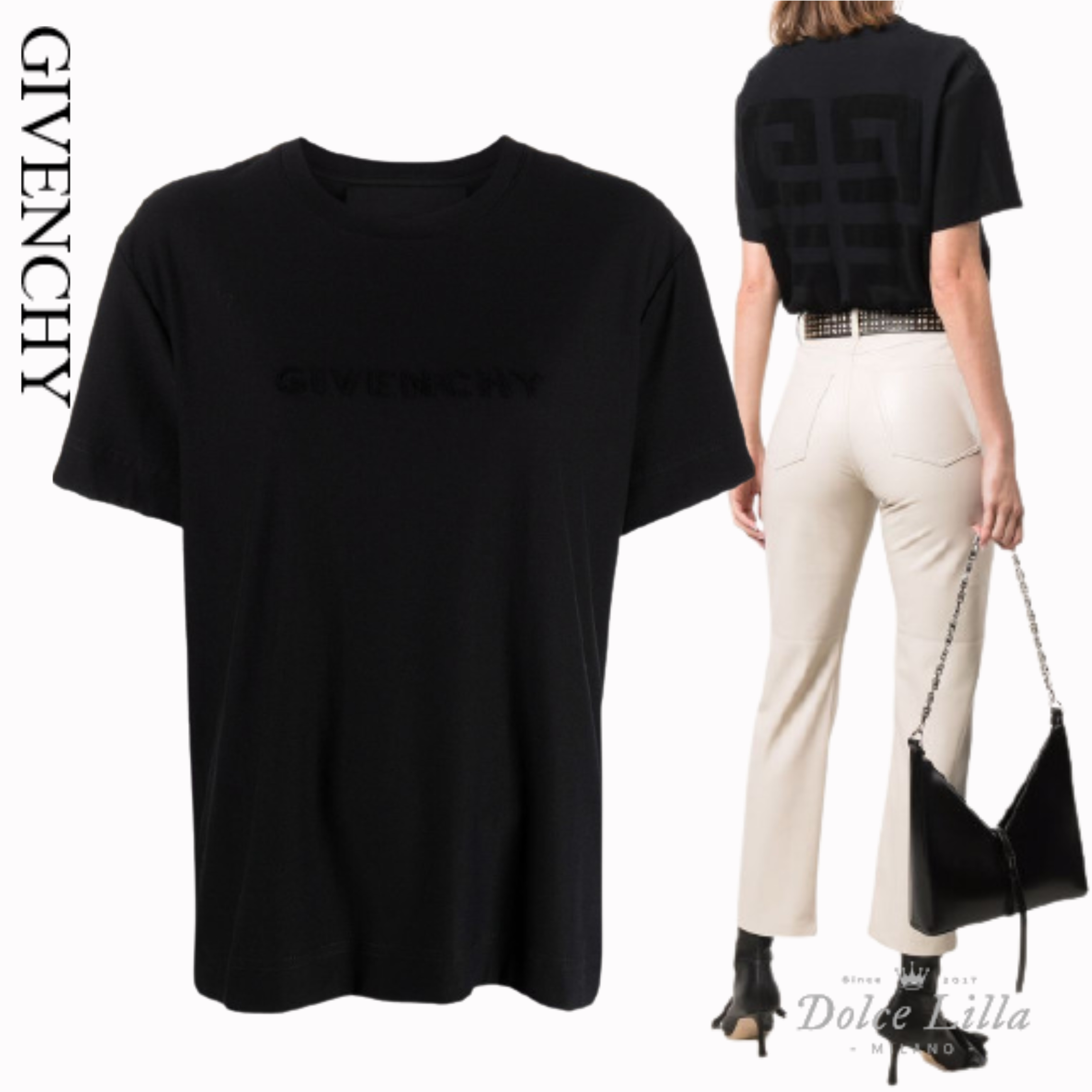 GIVENCHY GIVENCHY 4G Tシャツ (GIVENCHY/Tシャツ・カットソー) BW707Z30NH  BW707Z30NH 001  BW707Z30NH001