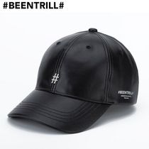 【Been Trill】FAUX LEATHER #ロゴ ボールキャップ 送料無料