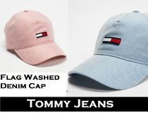 AUS発!【TOMMY JEANS】トミーフラッグ★Washed Denim Cap 2色