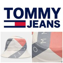 TOMMY JEANS Logo Print Bucket Hat  トミー / バケットハット