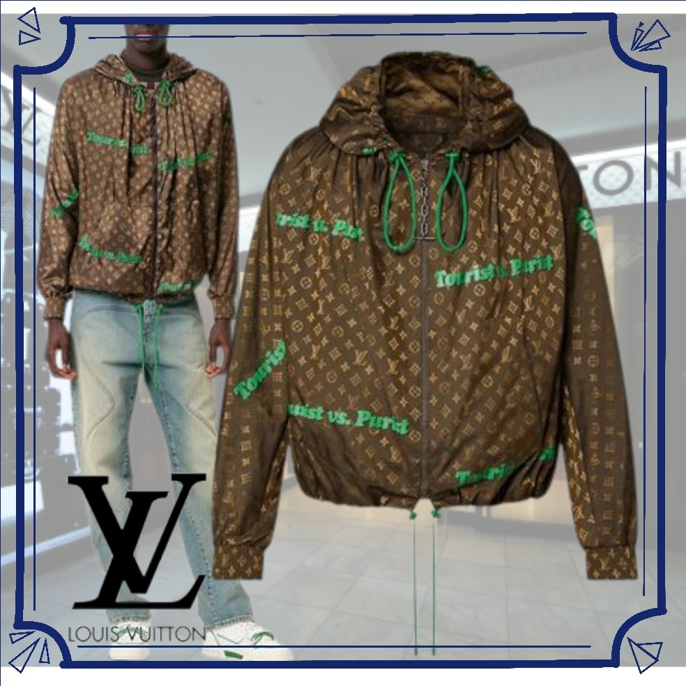 21FW*Men's[LV] ウインドブレーカー 茶*1A97A7★もうすぐ完売★ (Louis Vuitton/アウターその他) 1A97A7