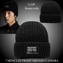 21AW★7 MONCLER FRGMT★Beanie with patch ウール ニット帽