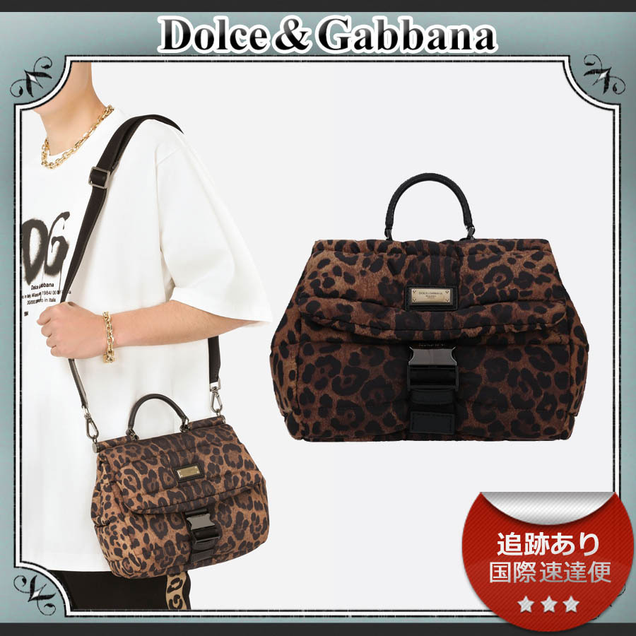 21AW/送料込≪D&G≫ SICILY QUILTED ナイロン ハンドバッグ (Dolce & Gabbana/ショルダーバッグ) 71677493