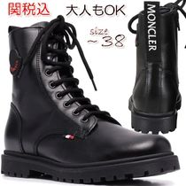 New! 大人もOK MONCLER ロゴ レースアップブーツ〜size38 関税込