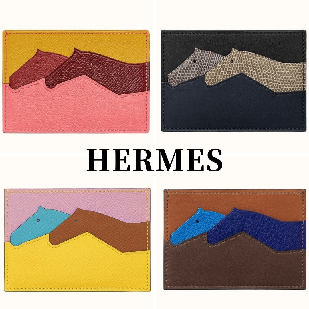 HERMES Les Petits Chevaux card holder Leather カードケース (HERMES/カードケース・名刺入れ) H076757CAAA  H078319CAAA  H078320CAAA