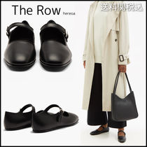 THE ROW ◆ Ava square-toe leather Mary Jane フラットシューズ