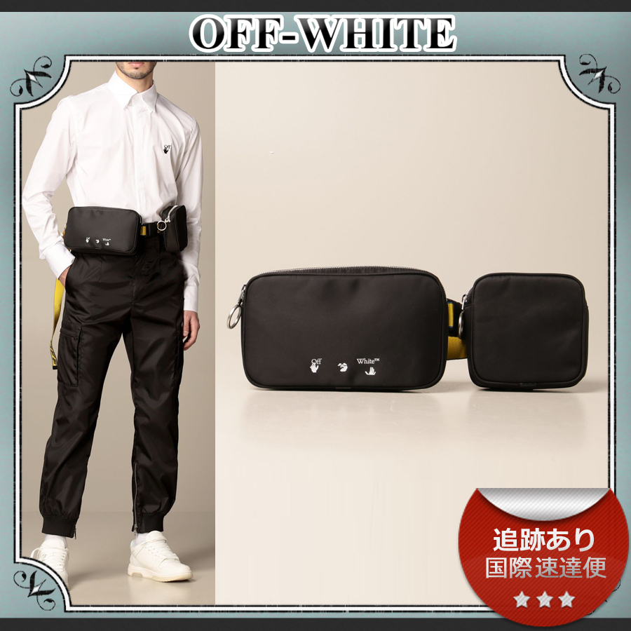 SALE!!送料込≪OFF-WHITE≫ industrial ナイロン ベルトバッグ (Off-White/ショルダーバッグ) 71738563