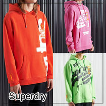 Superdry(極度乾燥しなさい)(Superdry(極度乾燥しなさい)) パーカー・フーディ 日本未入荷!【Superdry】プリントロゴ フリース裏地 パーカー