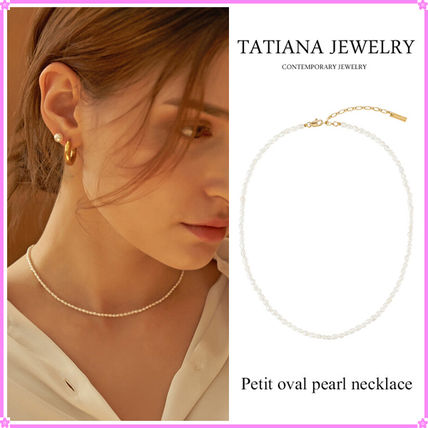 【TATIANA】Petit oval pearl necklace_NZ1099~パールネックレス