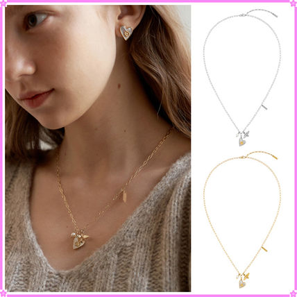 【TATIANA】Nacre Flower Heart Necklace_NZ1139~ネックレス