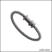 Montblanc(モンブラン) ブレスレット 【MONTBLANC】Bracelet in woven grey leather