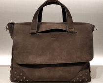 TOD'S(トッズ) トートバッグ VIPセール70%オフ【TODS SUEDE LEATHER BUSINESS BAG】