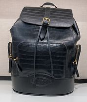 TOD'S(トッズ) バックパック・リュック VIPセール50%オフ【TODS BACKPACK EMBOSSED CROCO BLACK】