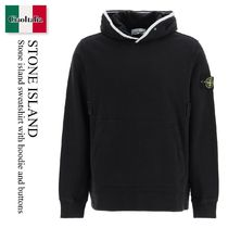 Stone island sweatshirt with hoodie and buttons