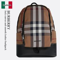 Burberry Jack canvas and smooth leather backpack