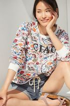 Anthropologie ★ Maeve Ciao Floral Sweatshirt