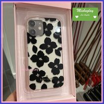 【kate spade】キラキラ花柄★jeweled blooms iPhone 12 各対応