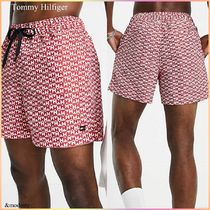 【Tommy Hilfiger】総柄◆モノグラムロゴ◆スイムショーツ