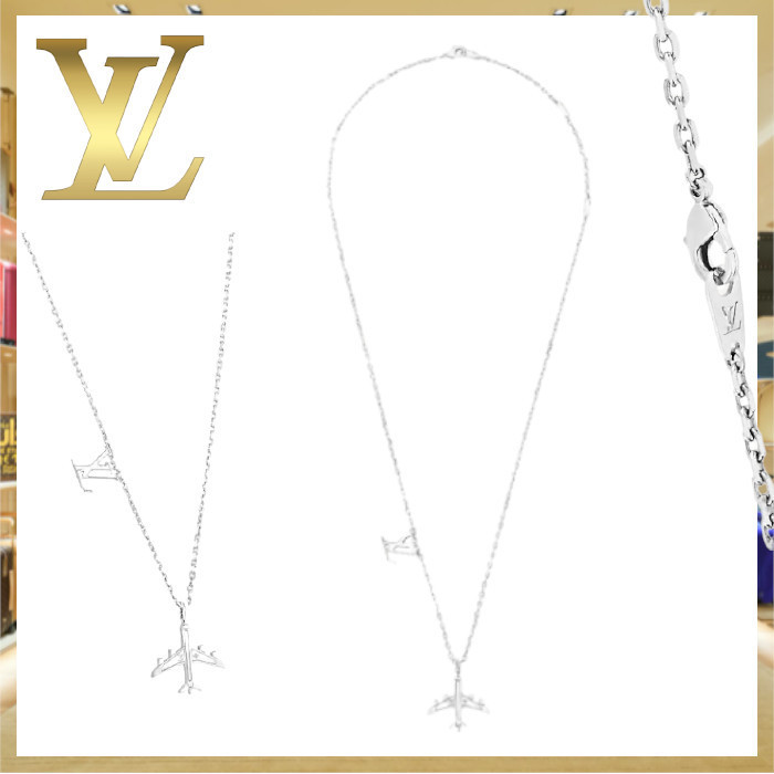 21AW Louis Vuitton ペンダント・LVプレーン チェーン シルバー (Louis Vuitton/ネックレス・チョーカー) MP3157
