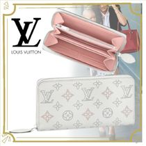 Louis Vuitton(ルイヴィトン) マザーズバッグ NEW IN*21FW[LV] マヒナ ジッピー ウォレット 長財布*白&ピンク
