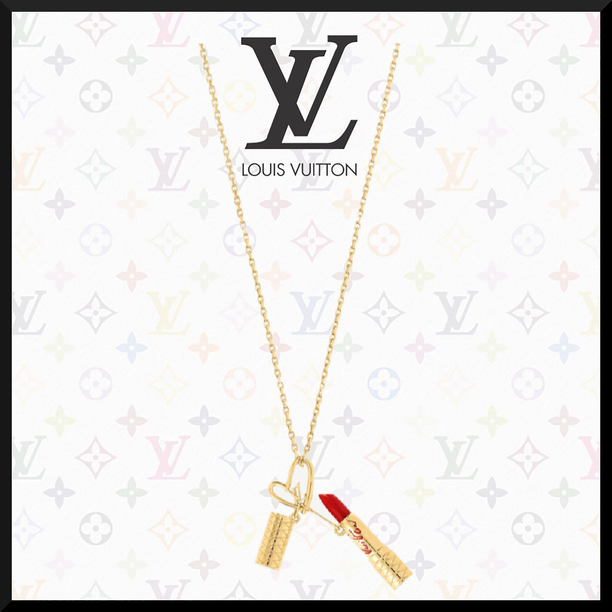 21FW直営買付LV★★FALL IN LOVE LIPSTICK NECKLACE (Louis Vuitton/ネックレス・ペンダント) 71786965