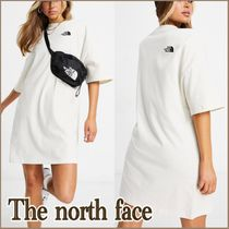 ★The north face★シンプル☆ロゴTシャツワンピース *white*