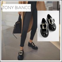 【Tony Bianco】Cossi Black Patent Casual Shoes人気ローファー