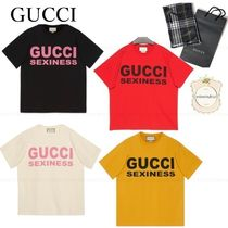 GUCCI★大人気★SEXINESSロゴTシャツ616036