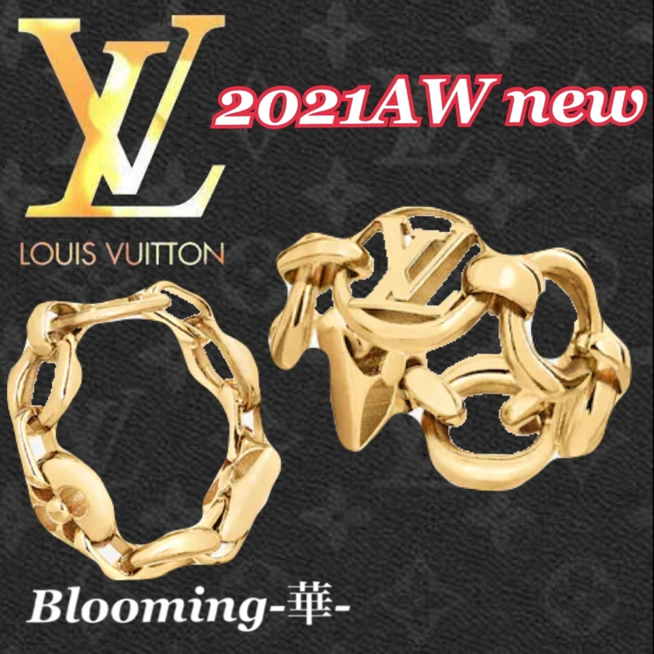 2021AW新作★直営店 ルイヴィトン クレイジーinロック リング (Louis Vuitton/指輪・リング) M00386