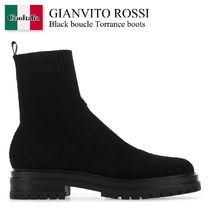 Gianvito Rossi Black boucle Torrance boots