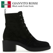 Gianvito Rossi Black suede Foster boots