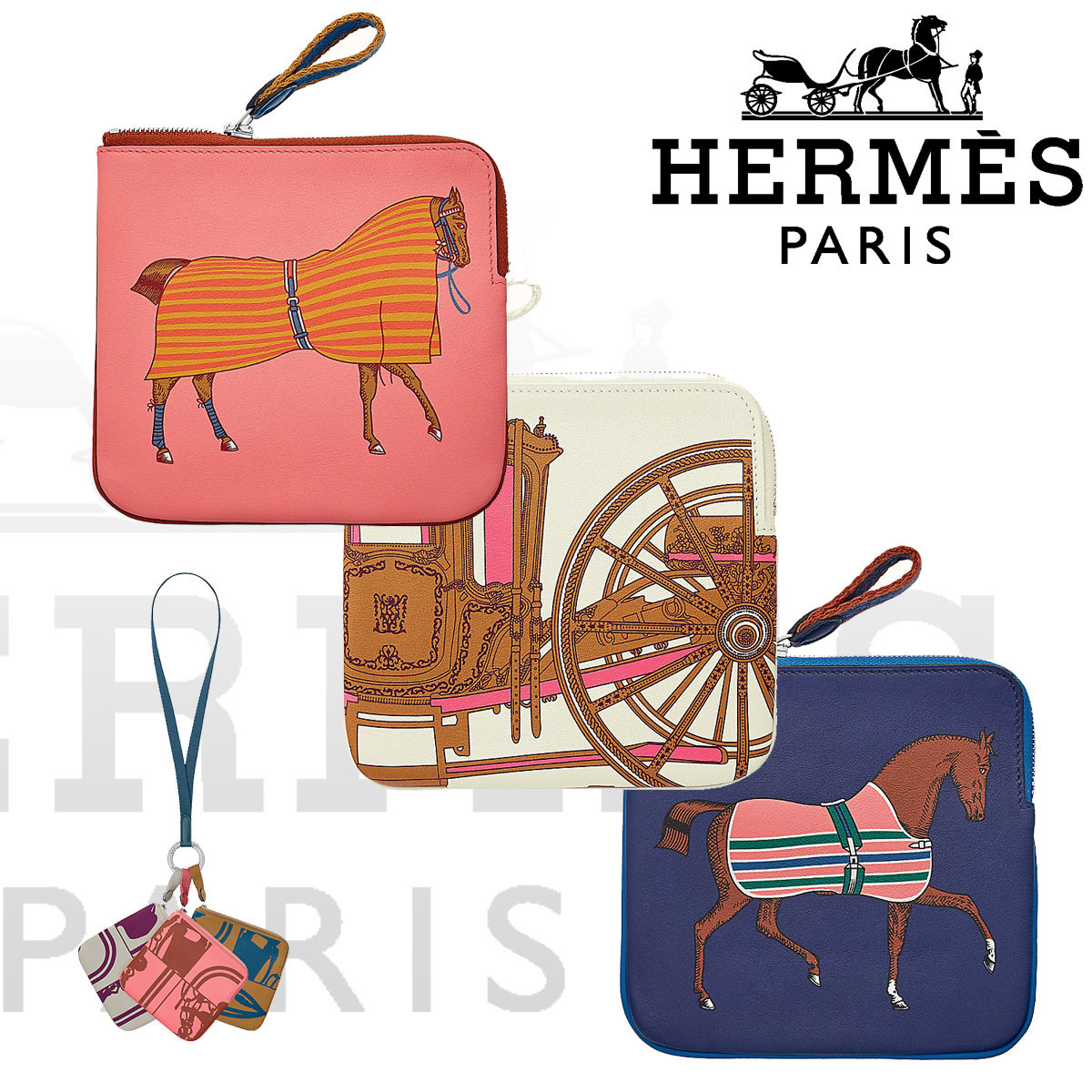HERMES ポーチ カレ・ポケット Carre Pocket (HERMES/ポーチ) H077638CKAA  H077639CKAA  H077718CKAA