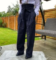 """""""COS"""" コス新作☆HIGH-WAISTED PAPERBAG TROUSERS(navy)"""