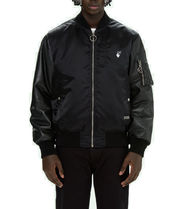 【OFF-WHITE】 Hand Off Leather Bomber