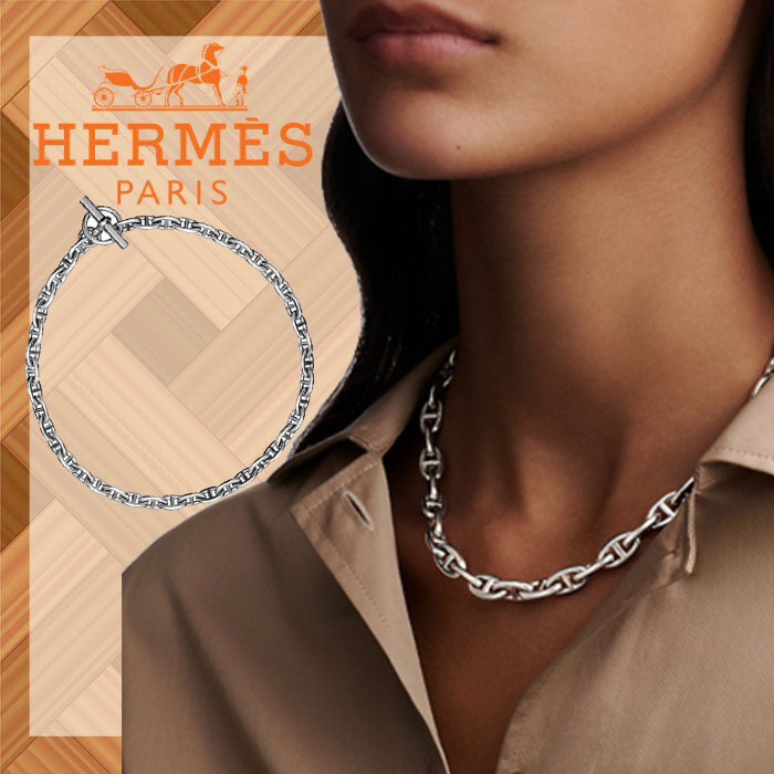 【HERMES】エルメス Chaine d'Ancre necklace PM ネックレス (HERMES/ネックレス・ペンダント) H101503B 00