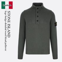 Stone Island logo badge-detailed wool blend pullover