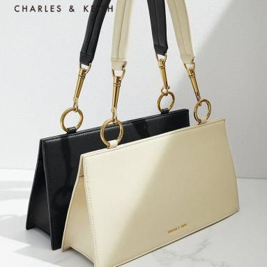 ★Charles & Keith★Simple one-shoulder small square bag★3色