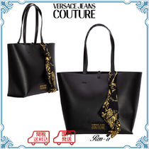 ☆VERSACE JEANS☆バロックアクセサリー付き トートバッグ