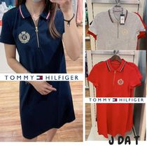 Tommy Hilfigerトミー★ジップアップポロロゴワンピース♡