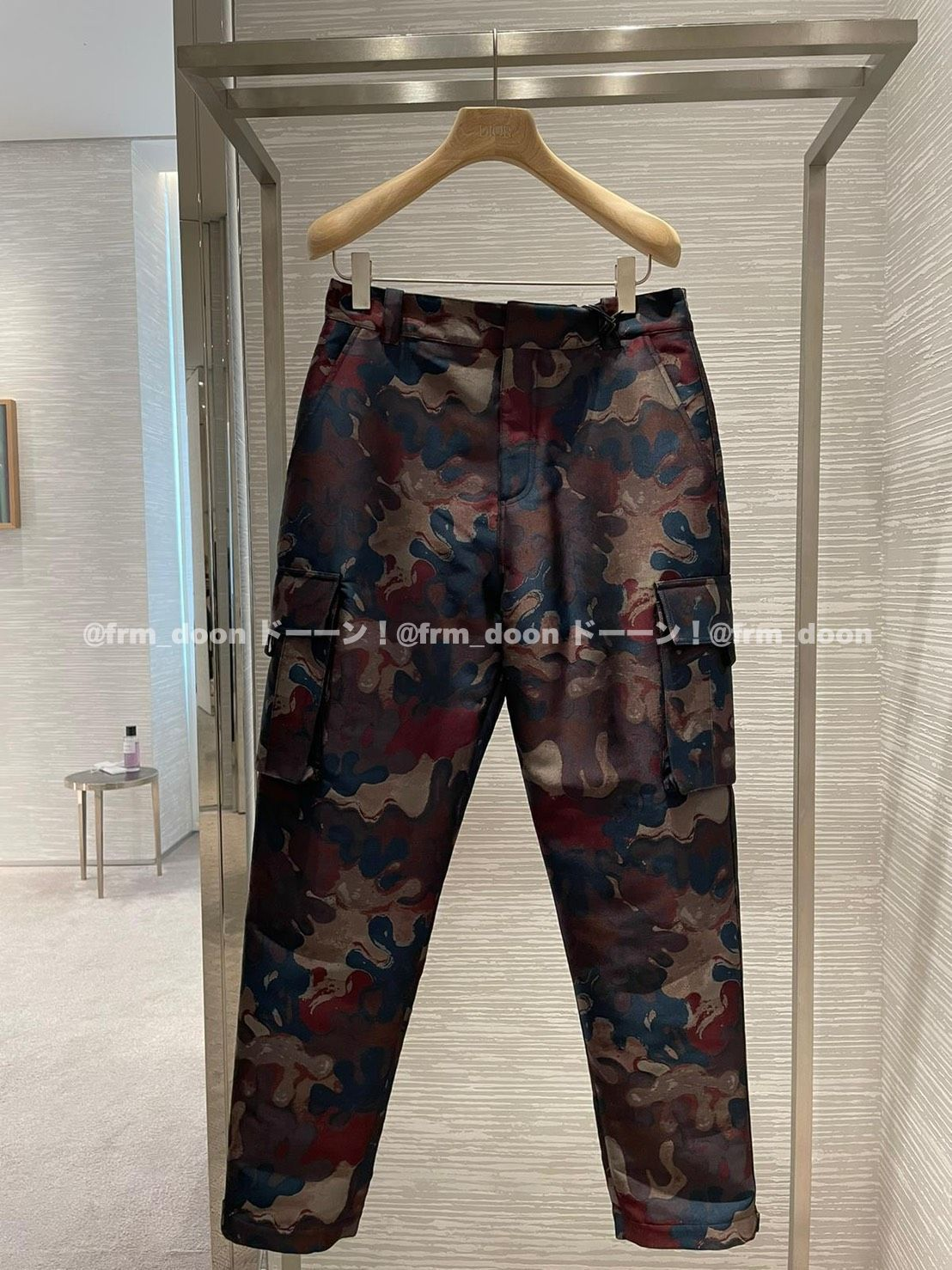 【Dior】21/22AW DIOR AND PETER DOIG カーゴパンツ/ カムフラ (Dior/カーゴパンツ) 013C101A5336_C783  013C122A5336_C783