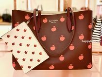 【kate spade】all day apple toss print*ラージトート