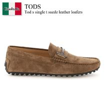 TOD'S(トッズ) ドレスシューズ・革靴・ビジネスシューズ Tod s single t suede leather loafers