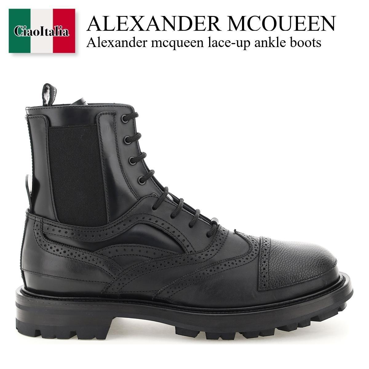 Alexander mcqueen lace-up ankle boots (alexander mcqueen/ブーツ) ALEXANDER MCQUEEN LACE-UP ANKLE BOOTS  667912 WHRWM  667912 WHRWM 1000